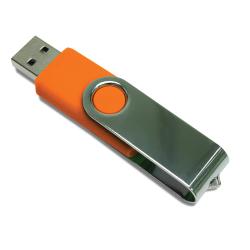 Shiny Silver Swivel USB Drives