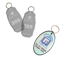 Acrylic Hotel Key Holders with Logo Printing