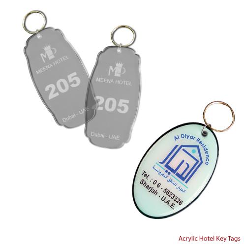Acrylic Hotel Key Holders with Logo Printing