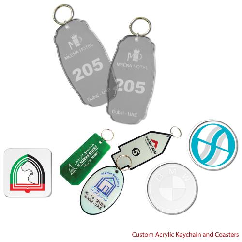 Acrylic Keychain and Tea Coasters