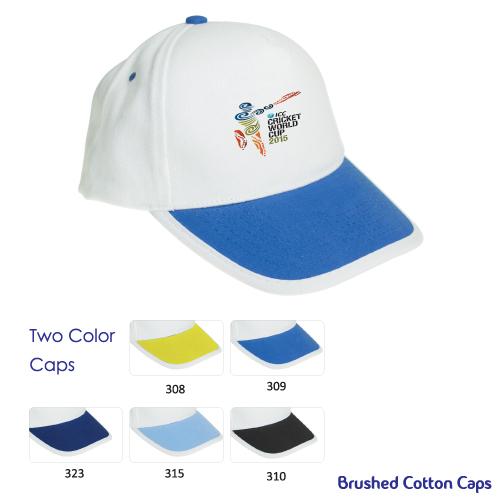 Promotional Cotton Caps in Double Colors