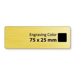 Engraved Badges in PVC - Matt Gold