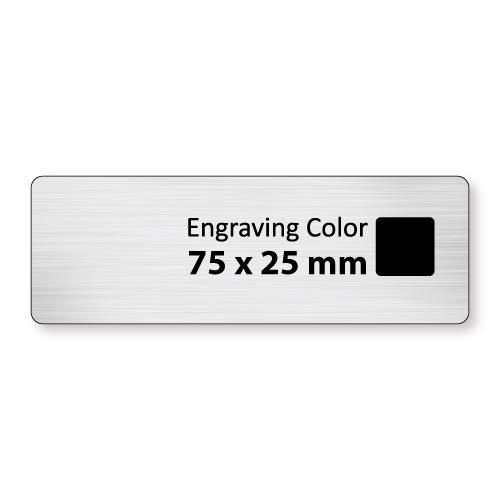 Engraved Badges in  PVC - Matt Silver