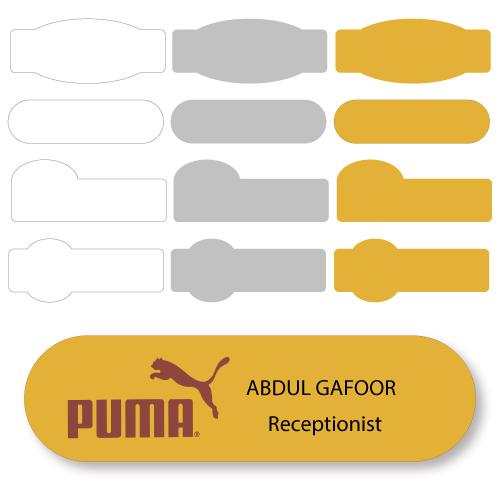 Customized Shape Badges