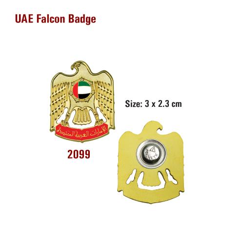 UAE Falcon Shape Badges