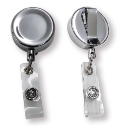 Steel Badge Reel with Branding for ID Cards