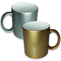 Photo Mugs in Gold and Silver Color