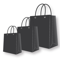 Paper Bags Black Color
