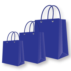 Paper Bags Blue Color