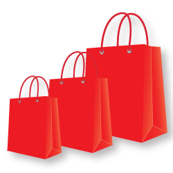 Paper Bags Red Color
