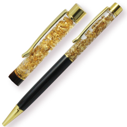 Luxury Metal Pens with Gold Flakes with Branding