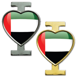 I Love UAE Badges with pin at the back