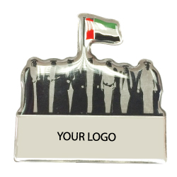 National Day  Aluminum Badges with epoxy