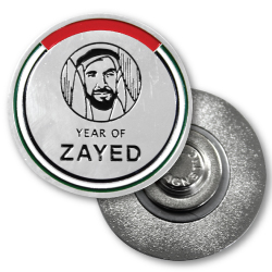 Year of Zayed Metal Badges Round Shape