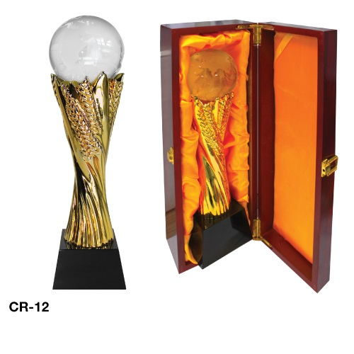 Crystal Globe Trophy CR-12