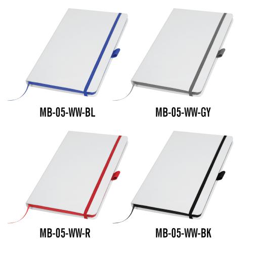 White Cover PU Notebooks