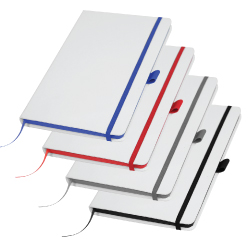 White Cover PU Notebooks