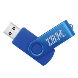 Blue Swivel USB Flash Drives 35-BL