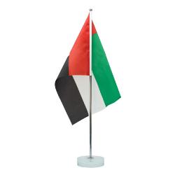 UAE Flag with Metal Pole and Glass UAE-FS-GL