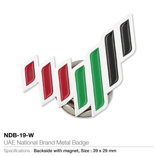 UAE National Brand Metal Badges NDB-19-W