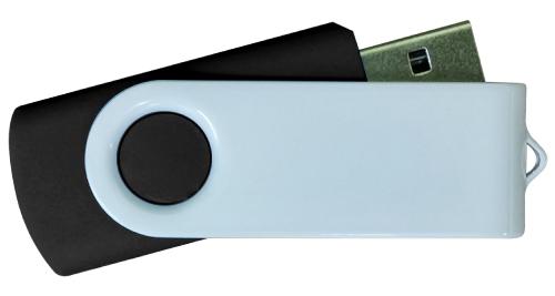 4GB White Metal with Black Plastic USB