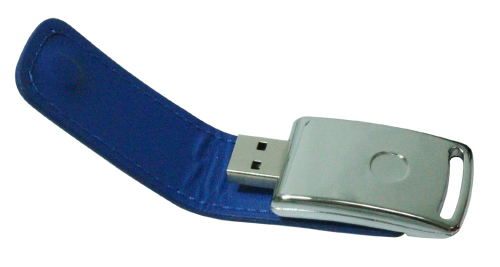 Leather Cover 8GB USB - Blue - 47