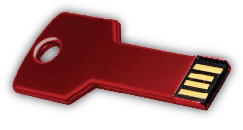 Key shaped USB 4GB - Red