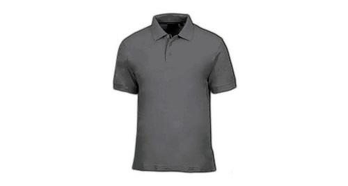 Cotton Polo T-shirt - Dark Grey Color