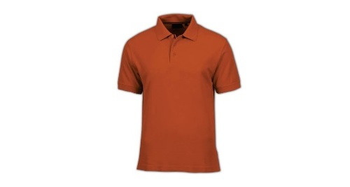 Cotton Polo T-shirt - Orange Color