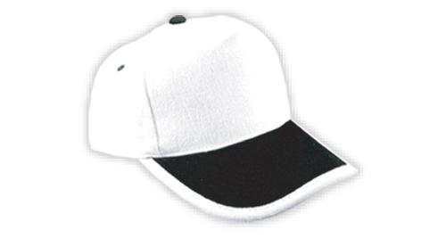 Cotton Caps, White and Black Color - 310
