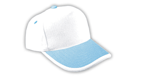 Cotton Caps, White and Light Blue Color - 315