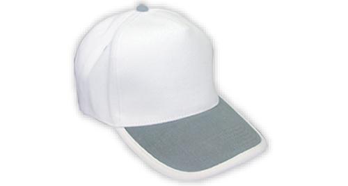 Cotton Caps, White & Grey Color - 344